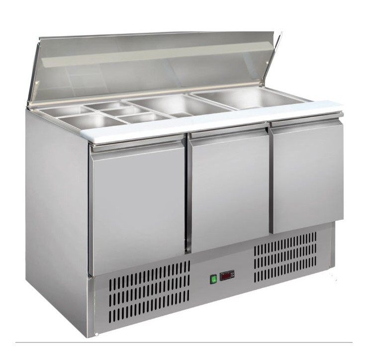 Saladette inox gastronorme GN1/1