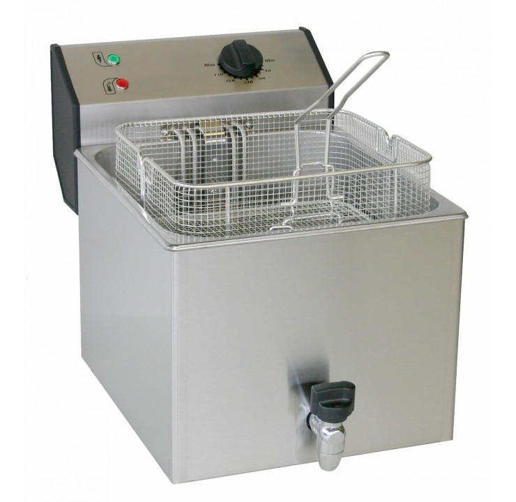 Friteuse électrique 2 x 6 Litres 2 x 4,5 kW
