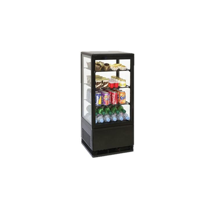 Mini vitrine réfrigérée à poser 78L Gamme Black