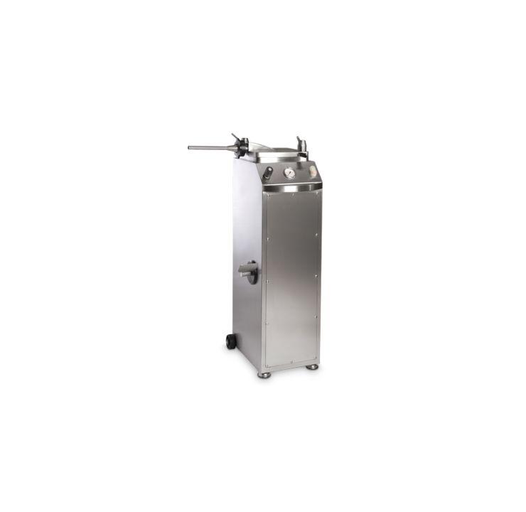 Poussoir à viande hydraulique 25 L sur socle
